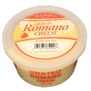 Old World - Grated Romano Cheese Cup