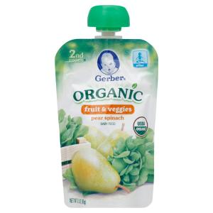Gerber - Organic Pear Spinach Baby Food