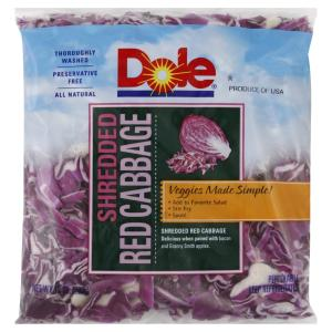Dole - sl Shred Red Cabbage